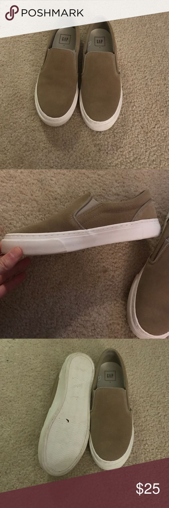 Gap leather slip on shoes in sand size 7 Gap leather slip on shoes in sand size 7 excellent condition GAP Shoes
