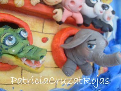 Patricia Cruzat Artesania y Color: Arca de Noé, con tu mascota! Cuadro en relieve