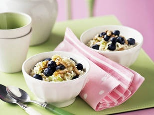 Quinoa with apple and blueberries    You'll never forget breakfast after you've tried this tasty quinoa meal.