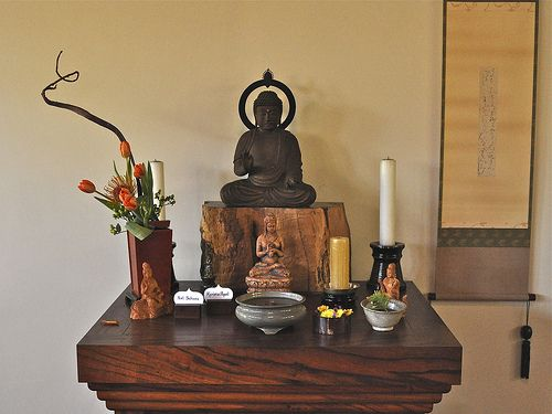 Traditional Family Altar Without Cabinet ZENDO   05b. Meditation ...