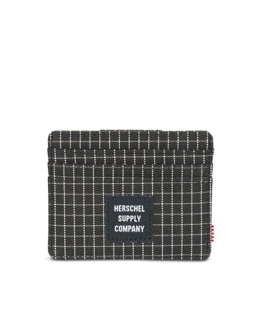 Herschel Felix Wallet Grid Black | Shop Now at The Idle Man | #StyleMadeEasy