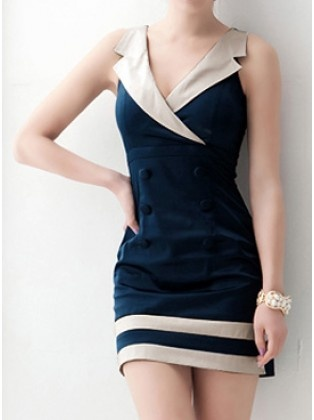 Suit Collar Nautical Dress...Cute for Halloween maybe, def need it a little longer for me