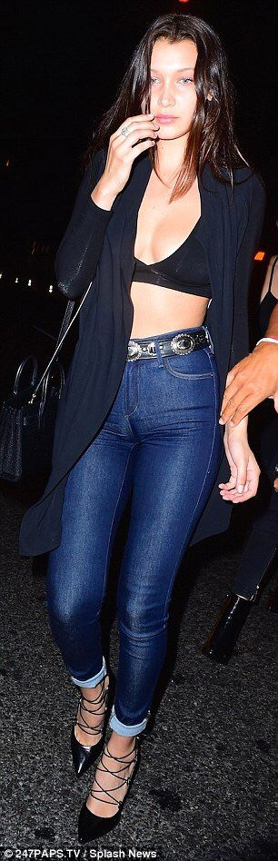 September 3: Bella Hadid arriving at Travis Scott's album release party at Up & Down nightclub in New York City.