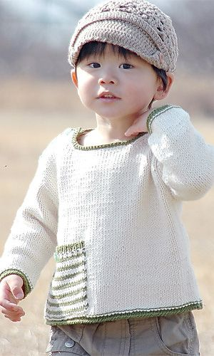 Ravelry: 29-40 Pocket Sweater pattern by Pierrot (Gosyo Co., Ltd), free pattern.