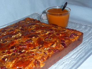 La Cuisine de Chris: Brownie aux noix de Pécan et caramel maison