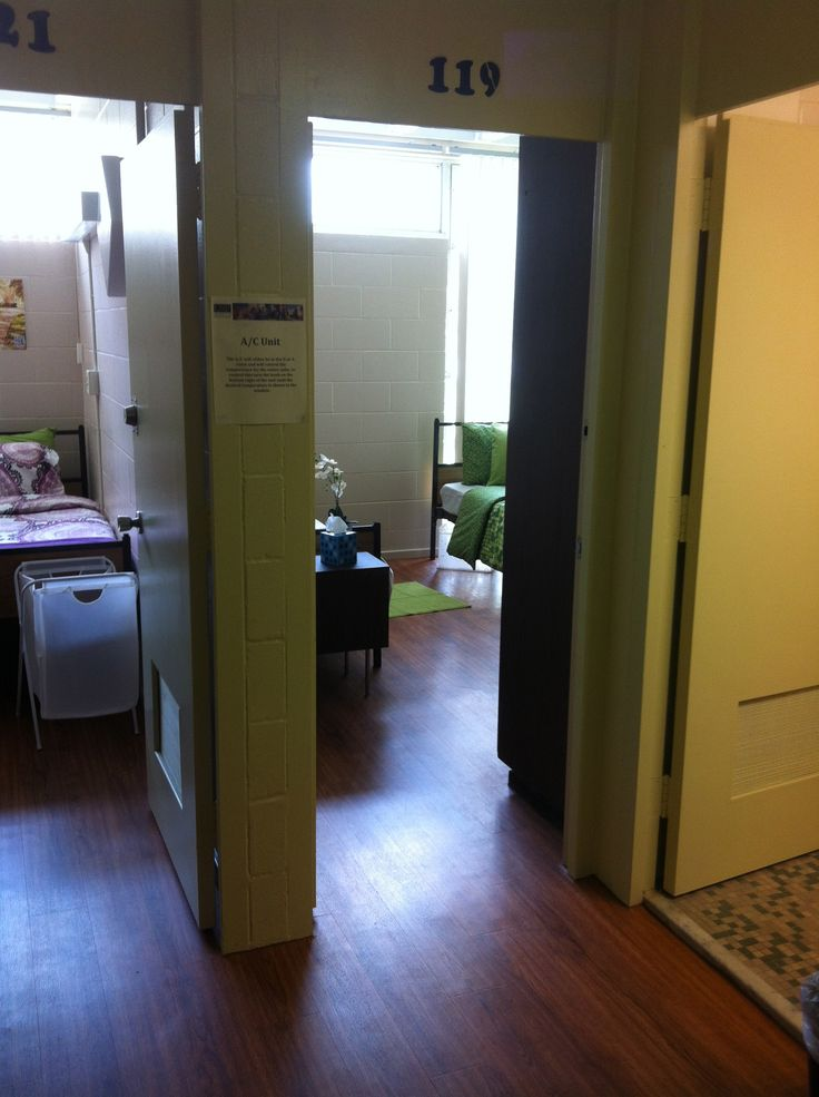 view of 2 bedrooms from desk area