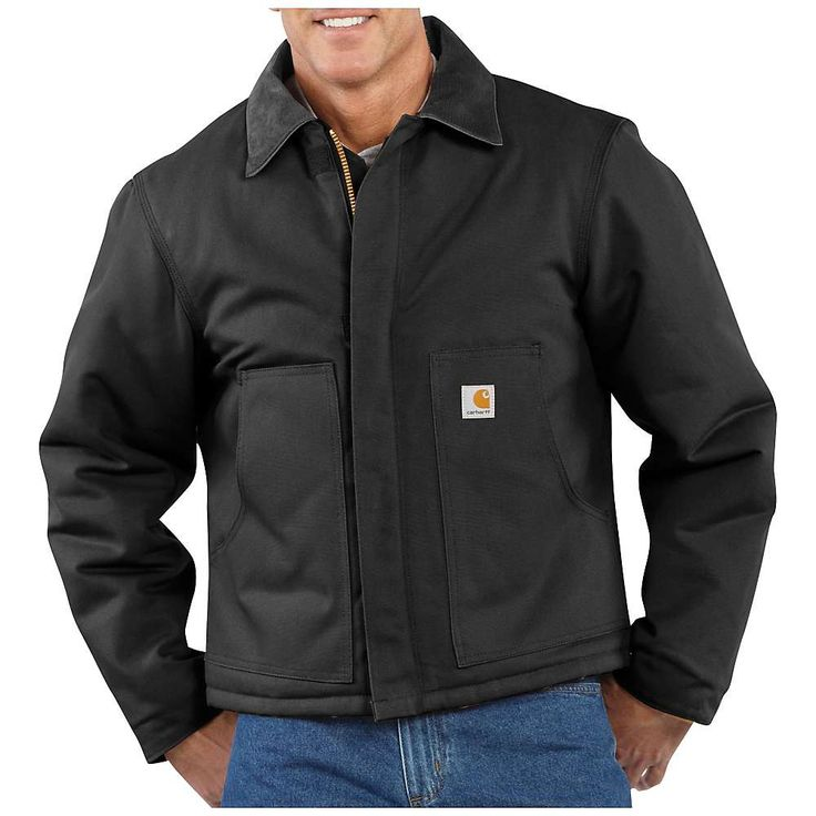 Carhartt Men's Duck Traditional Jacket - Medium Tall - Black