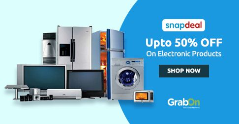 #Snapdeal Electronics Sale Is Back. Get Upto 50% On All #Electronics. http://www.grabon.in/snapdeal-coupons/ #SaveOnGrabOn