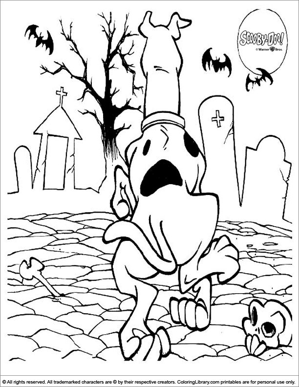 scooby doo coloring pages com - photo#37