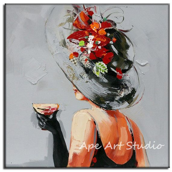 Modern girl oil painting large oil painting by ...