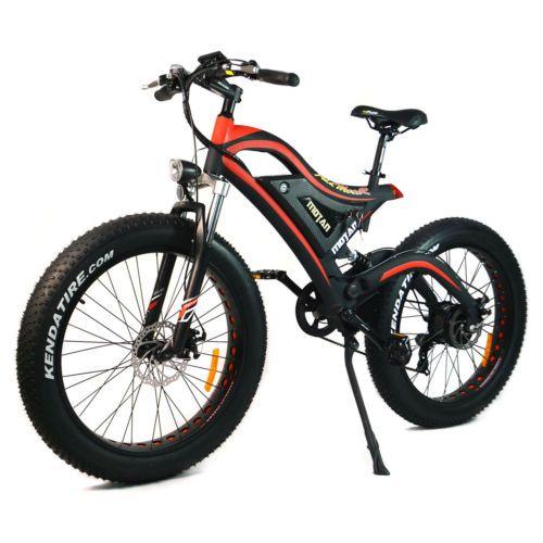 Heyman 26inch Electric Bike Fat Tires Mountain Bicycle 500Watt 48V 11Ah Lithium