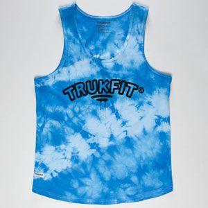 TRUKFIT Tie Dye Mens Tank #trukfit #tiedye #blue #truk #skate #surf #summer