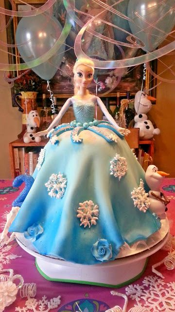 Elsa from Frozen doll cake (and its gluten free) tutorial!