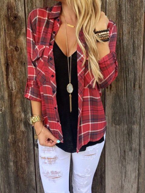 Red flannel outfit