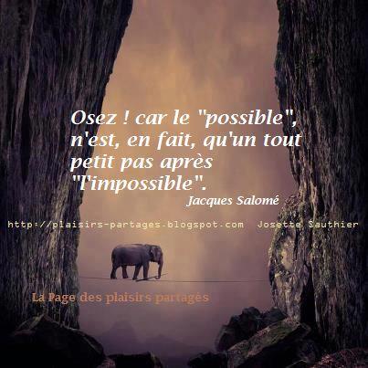 La Page des Plaisirs Partagés: Citation de Jacques Salomé pour réussir