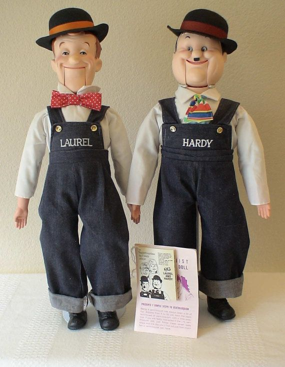Laurel and Hardy Ventriloquist Puppets