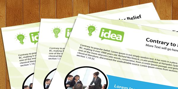 Free Corporate Single Side Brochure PSD Template
