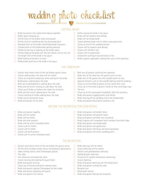 The Importance Of A Wedding Shot List Pinterest And Planning