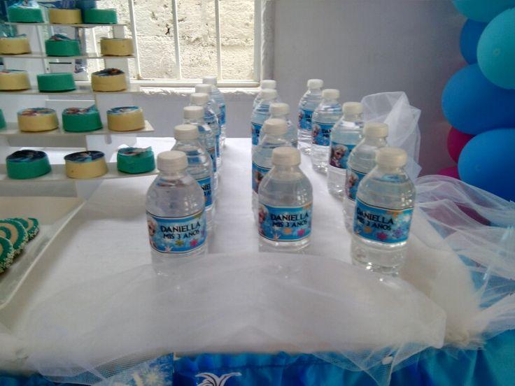 Cumple frozen - agua personalizada