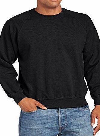Fruit of the Loom Mens Raglan Sleeve Crew Neck Sweatshirt, Black, Large No description (Barcode EAN = 5055454844415). http://www.comparestoreprices.co.uk/safety-clothing/fruit-of-the-loom-mens-raglan-sleeve-crew-neck-sweatshirt-black-large.asp