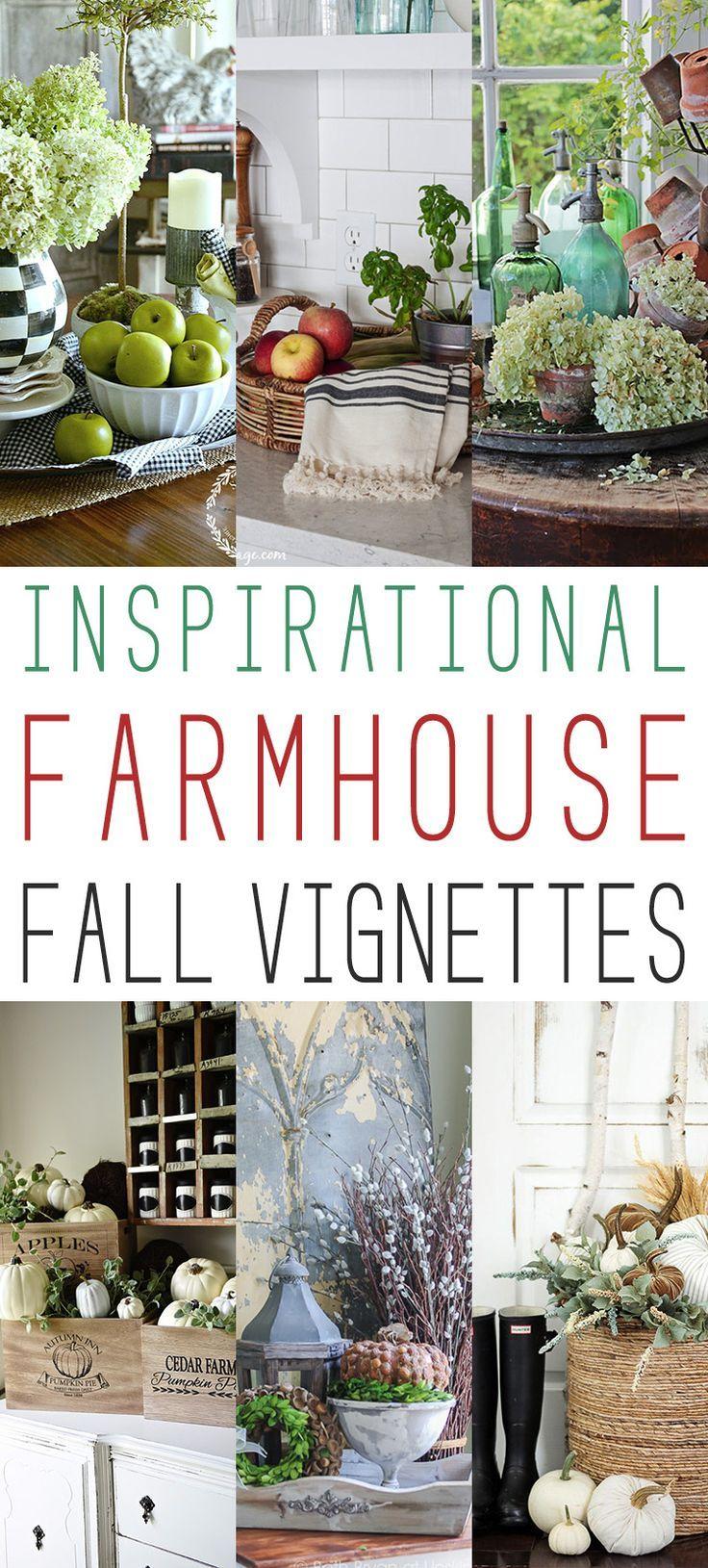20 Inspirational Farmhouse Fall Vignettes - The Cottage Market