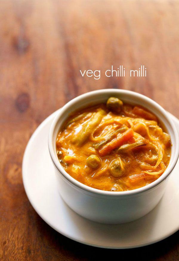 veg chilli milli recipe, how to make vegetable chilli milli recipe