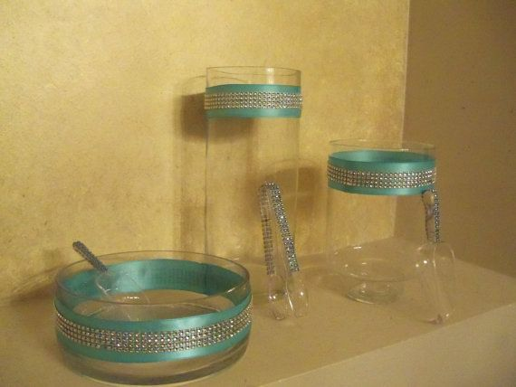 Candy Jars /  Candy Buffet Jars / Tiffany Blue / Breakfast at Tiffany's Party Decor / Candy Scoops on Etsy, $50.00
