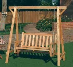 resultado de imagen para como hacer un columpio de madera para jardin