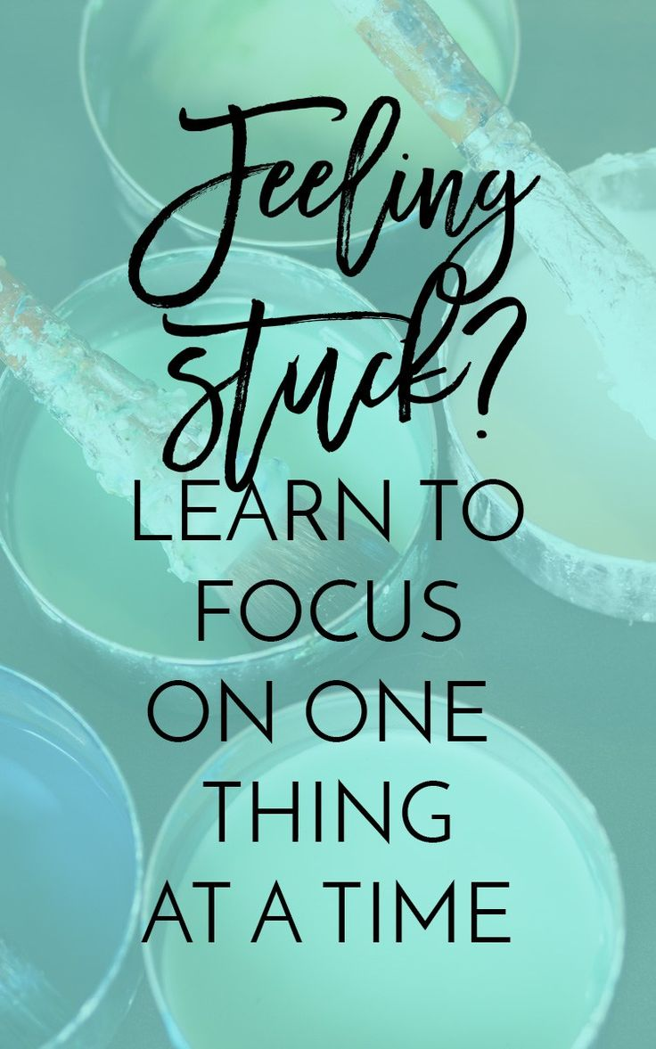 Focus On One Thing Quotes