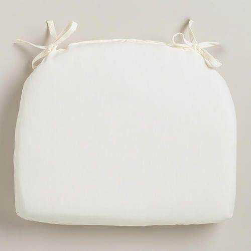 One of my favorite discoveries at WorldMarket.com: Antique White Cadiz Outdoor Chair Pad
