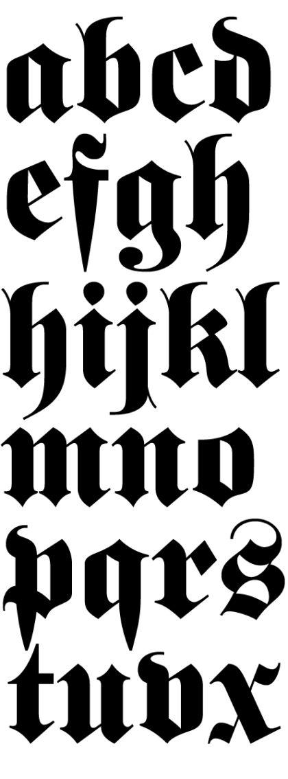 fette Fraktur - C.E. Weber, 1875 #font #blackletter