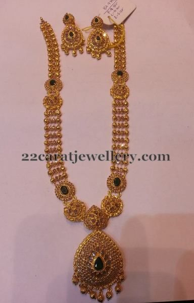 82 Grams Gold Necklace - Jewellery Designs