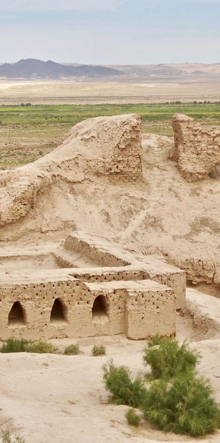 The ruins of Toprak Kala, Uzbekistan