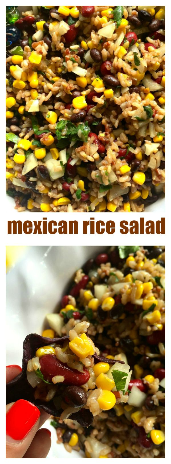 Mexican Rice Salad - Reluctant Entertainer