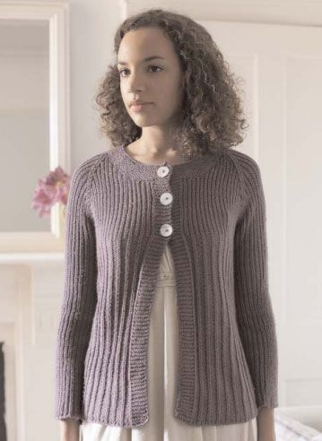 Lily Cardigan Free Knitting Pattern Knitted Pinterest Knitting