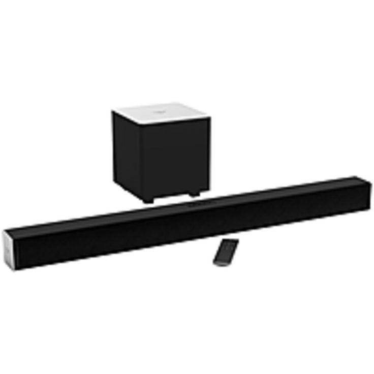 NOB VIZIO 2.1 Sound Bar Speaker - Placement: Stand Mountable, Table Mountable, Wall Mountable - Wireless Speaker(s) - 50 Hz - 19 kHz - Dolby Digital, DTS Studio Sound, DTS TruSurround, DTS TruVolume - Bluetooth - USB - Wireless Audio Stream