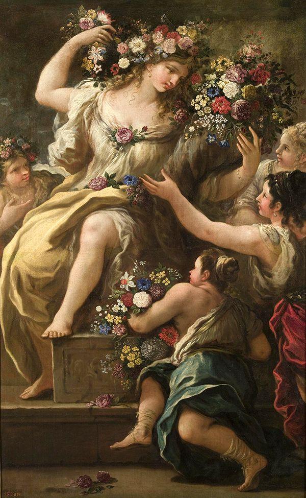 Luca Giordano (Italian, 1634-1705). Flora, Goddess of Flowers. Museo del Prado, Madrid