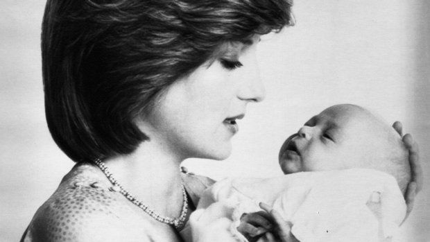 This formal portrait of Diana, Princess of Wales and her infant son Prince William was made by Lord Snowdon on July 20, 1982 at Kensington Palace
