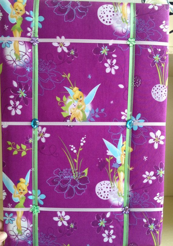Tinkerbell Memo/Picture Board 18 x 12 Purple by EllaTaylorBoutique, $13.00-- This is gorgeous for a girls room or any Tinkerbell fan!