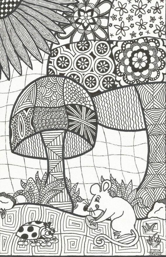 Zentangle-inspired Doodle (by Patricia Hill) on Etsy, $1.50