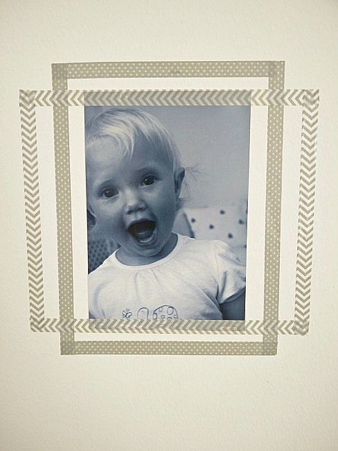 Simple washi tape wall frames