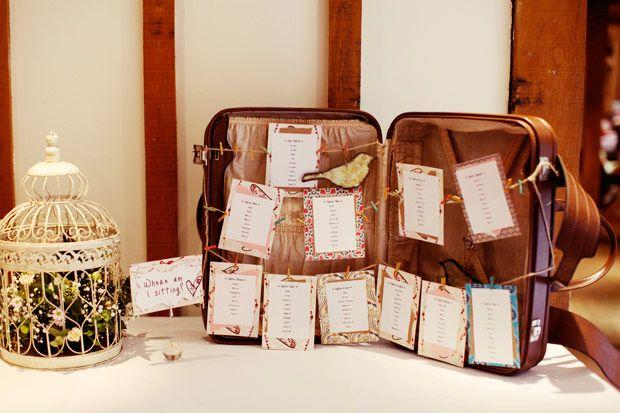vintage luggage table plan