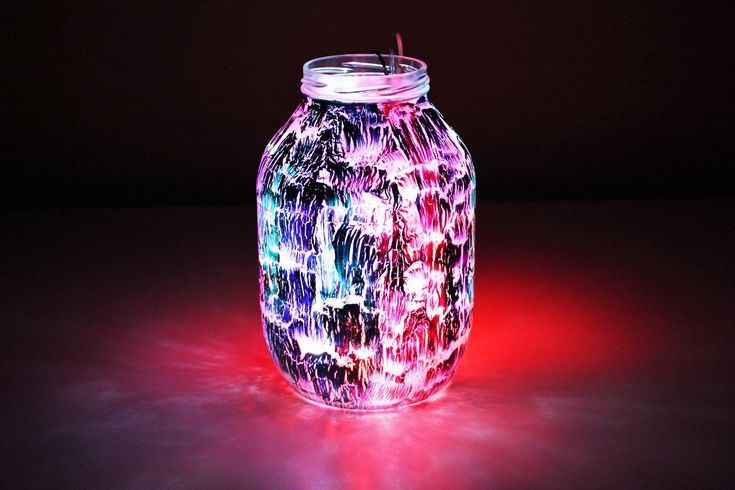 Glass Lantern - glass painting tutorials - DIY