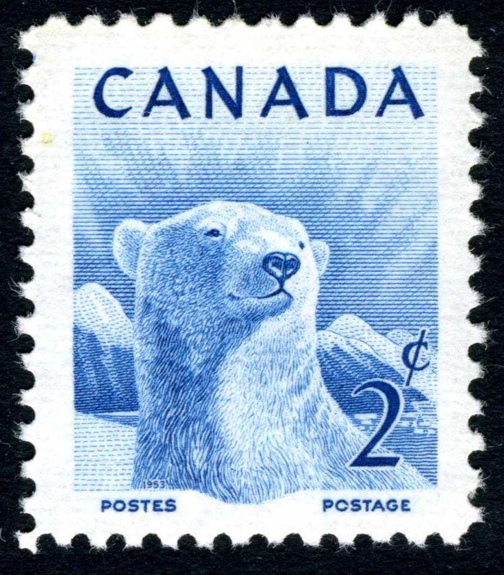 polar bear stamp.