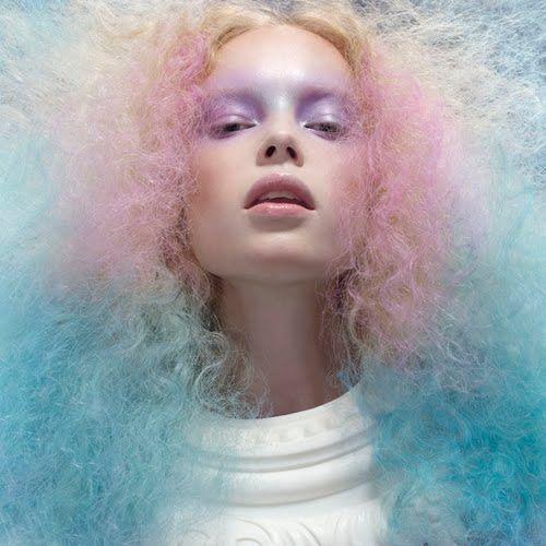 cotton candy hairCandies Colors, Rainbows Hair, Cotton Candy, Hair Art, Candies Hair, Cotton Candies, Pastel Hair, Pastelhair, High Fashion Makeup