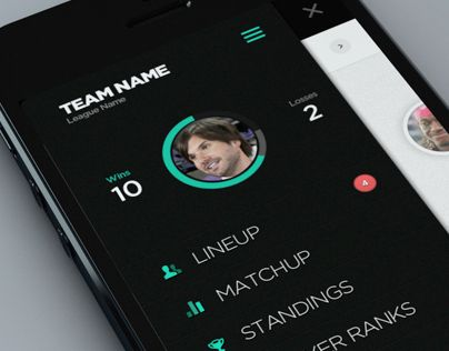 Ознакомьтесь с этим проектом @Behance: «Fantasy Leagues App» https://www.behance.net/gallery/5916361/Fantasy-Leagues-App