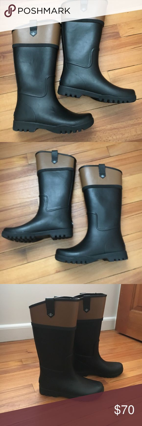 Sperry Top Sider rain boots Size 6 Sperry rain boots Size 6  excellent condition. Worn once. Small flaw shown in last pic. Purchased this way Sperry Top-Sider Shoes Winter & Rain Boots