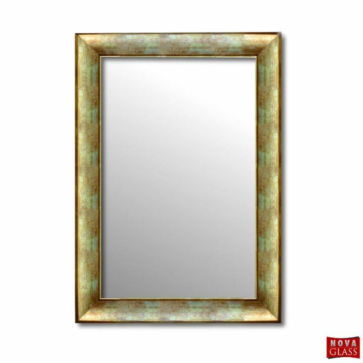 Καθρέπτης τοίχου με χρυσή κρακελέ ξύλινη κορνίζα Νο 372A