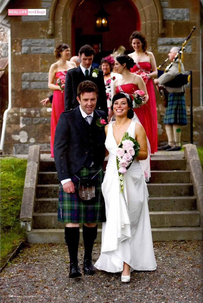 Perhaps The Most Traditional Material For Scottish Wedding Dresses Is Lace But Organza And Silk