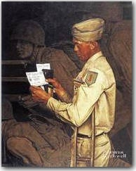 Norman Rockwell - War Bond, Saturday Evening Post Cover, July 1,1944.